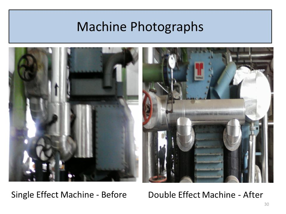 Machine Photographs Single Effect Machine - Before