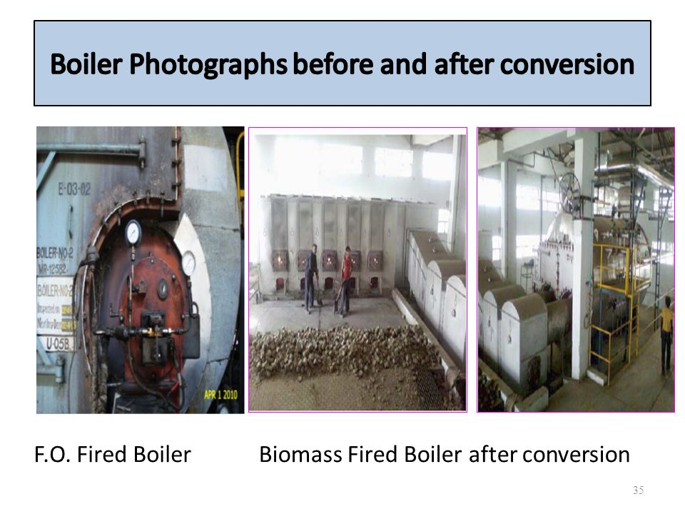 Boiler Photographs before and after conversion