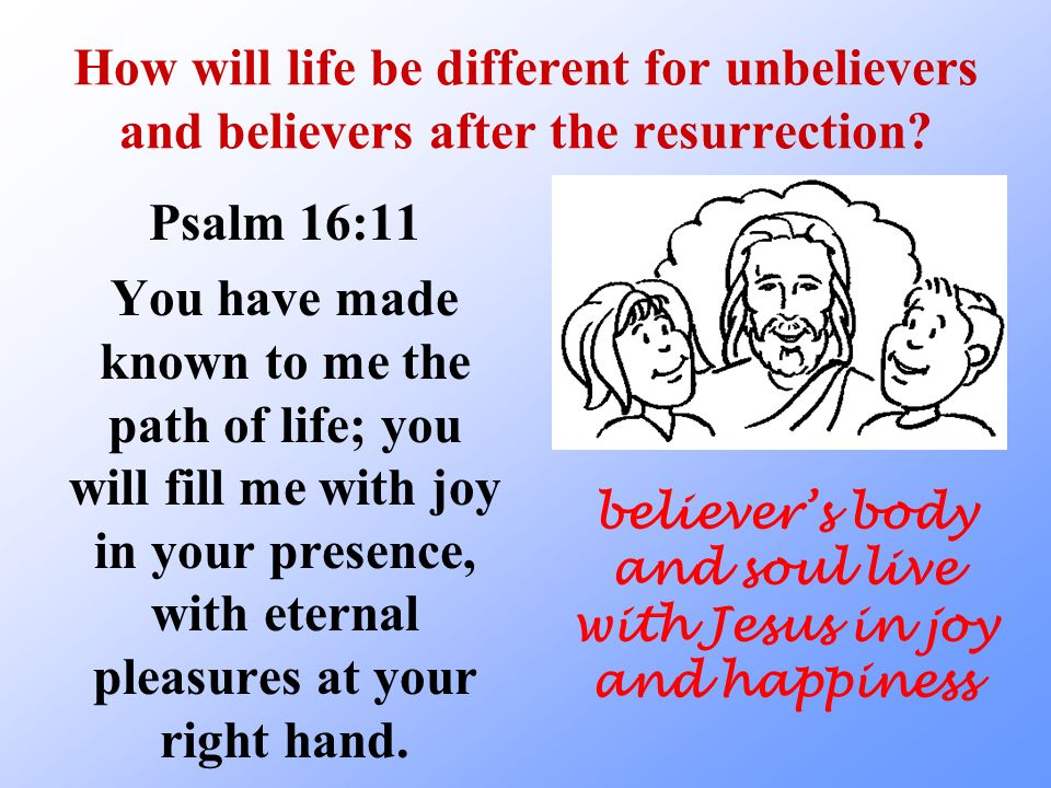 believer's body and soul live with Jesus in joy and happiness