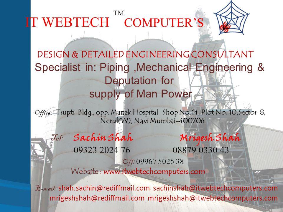 DESIGN & DETAILED ENGINEERING CONSULTANT