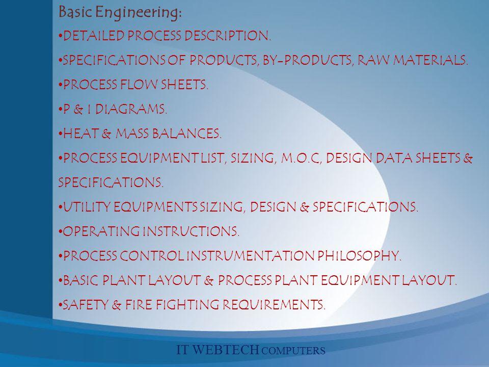 Basic Engineering: DETAILED PROCESS DESCRIPTION.
