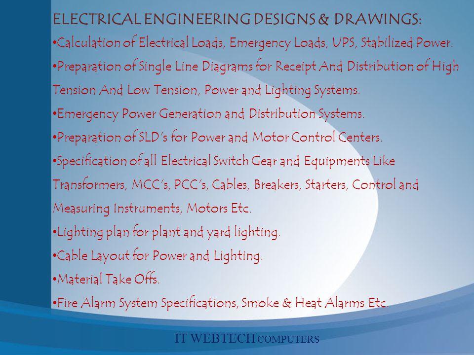 ELECTRICAL ENGINEERING DESIGNS & DRAWINGS: