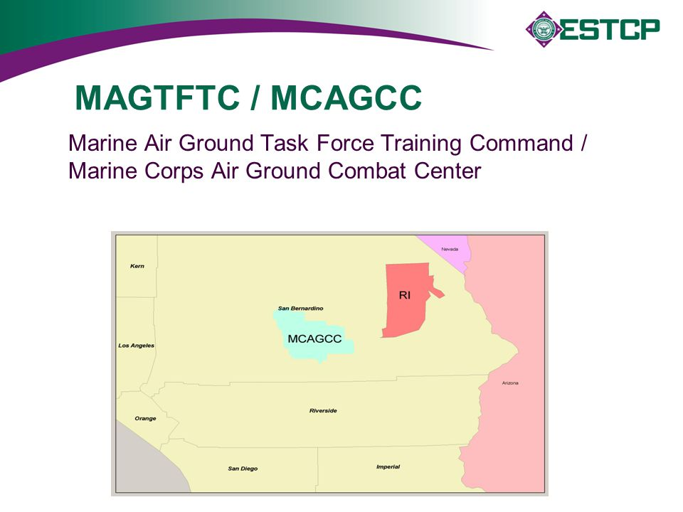 MAGTFTC / MCAGCC Marine Air Ground Task Force Training Command / Marine Corps Air Ground Combat Center.