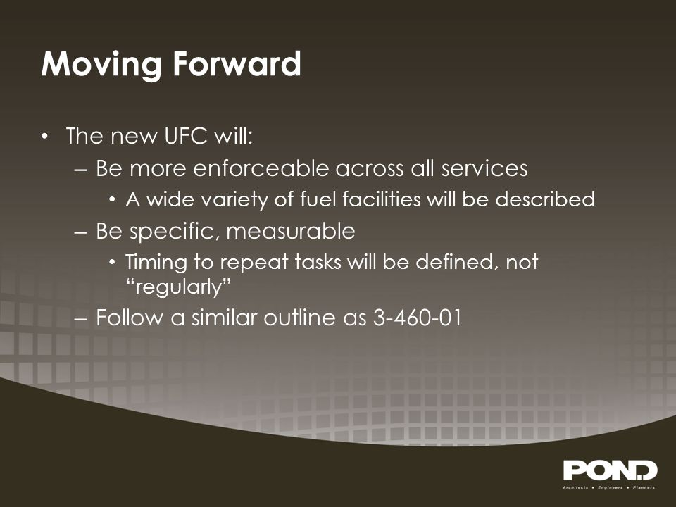 Moving Forward The new UFC will: