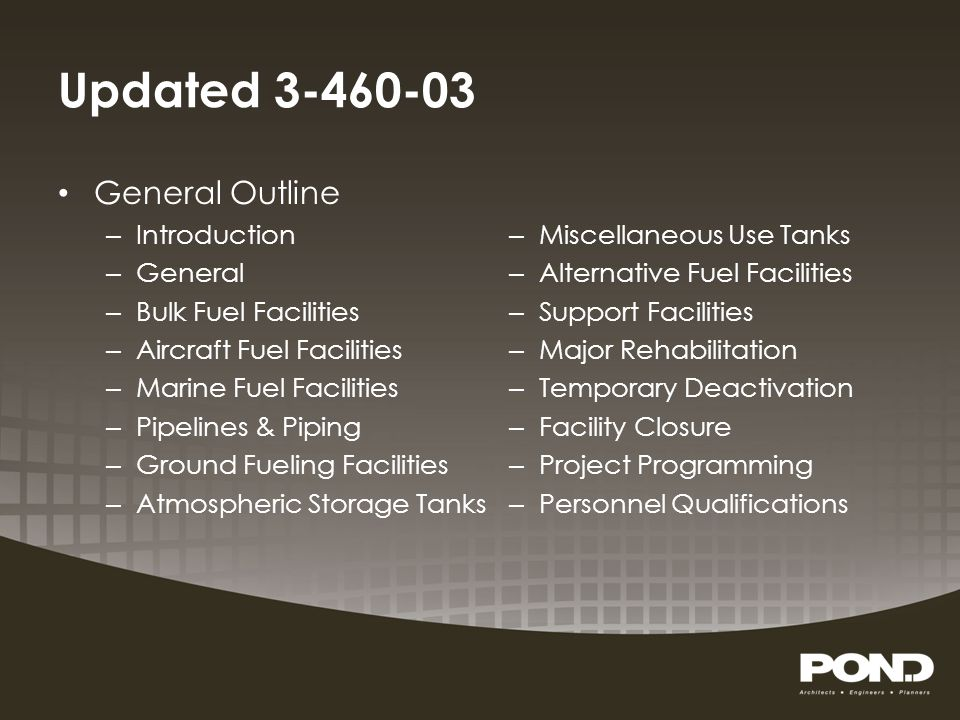 Updated 3-460-03 General Outline Introduction General