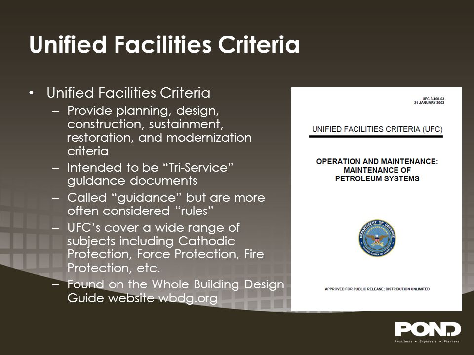 Unified Facilities Criteria