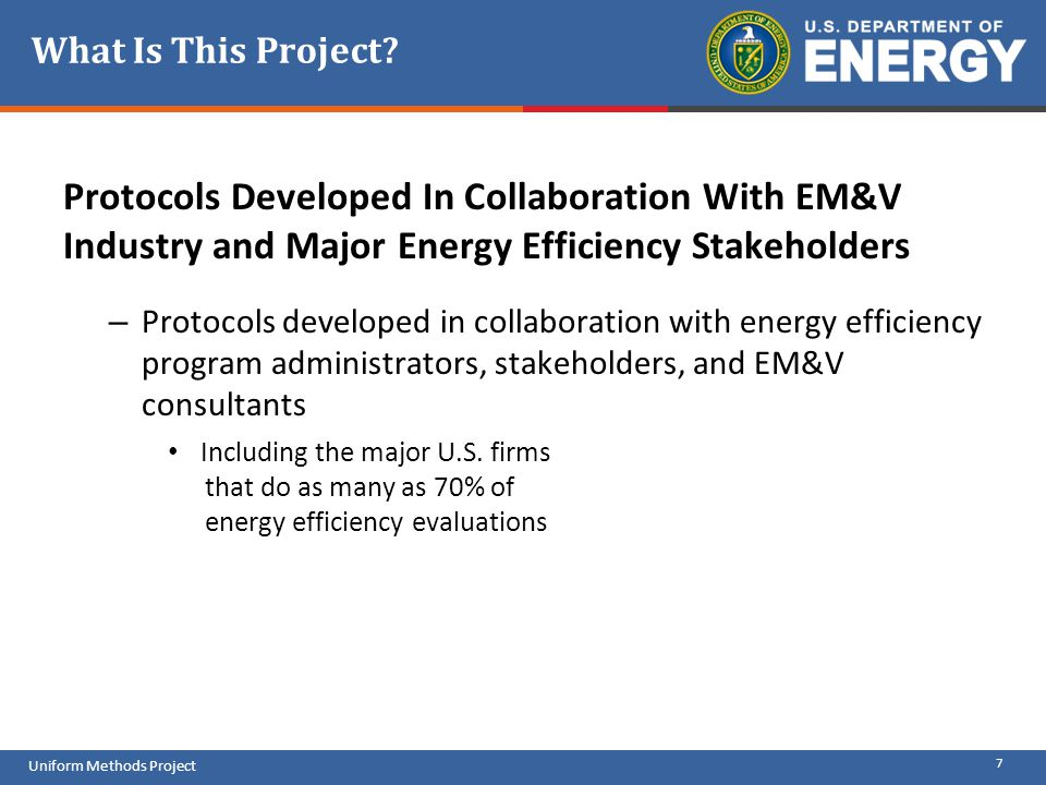What Is This Project Protocols Developed In Collaboration With EM&V Industry and Major Energy Efficiency Stakeholders.