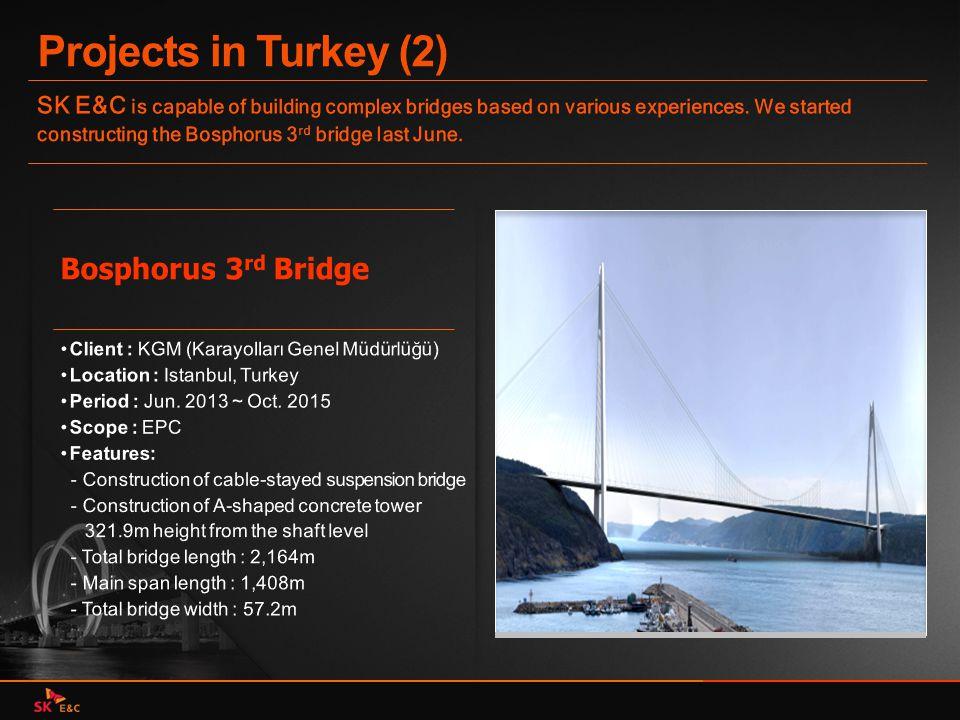 Projects in Turkey (2) Bosphorus 3rd Bridge