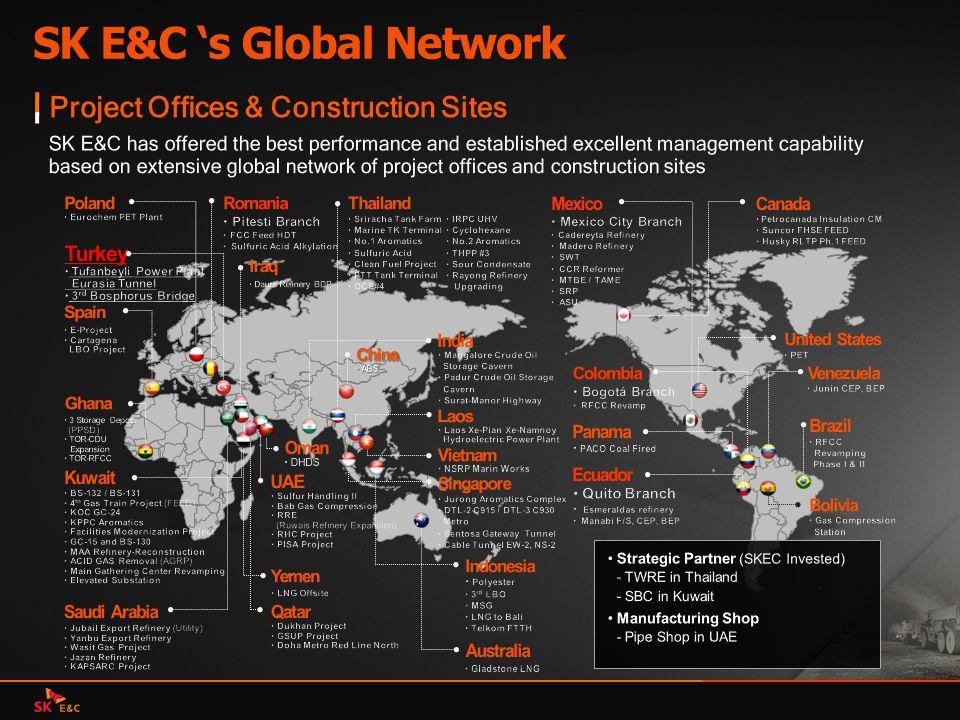SK E&C 's Global Network