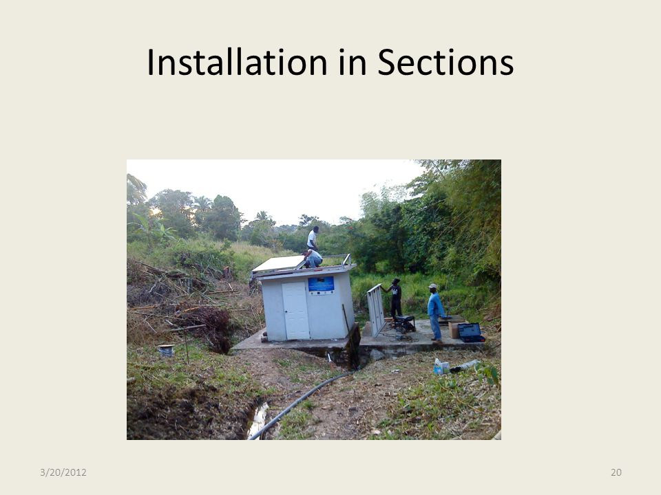 Installation in Sections
