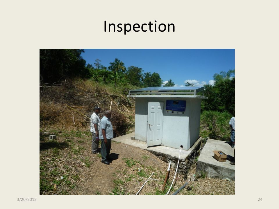 Inspection 3/20/2012