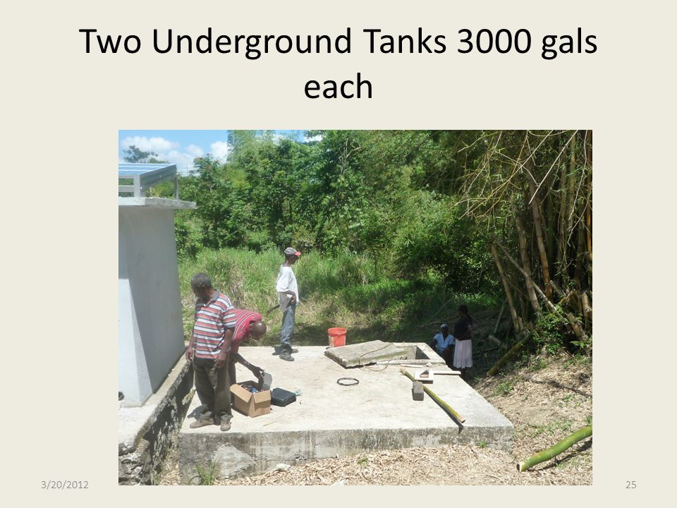 Two Underground Tanks 3000 gals each