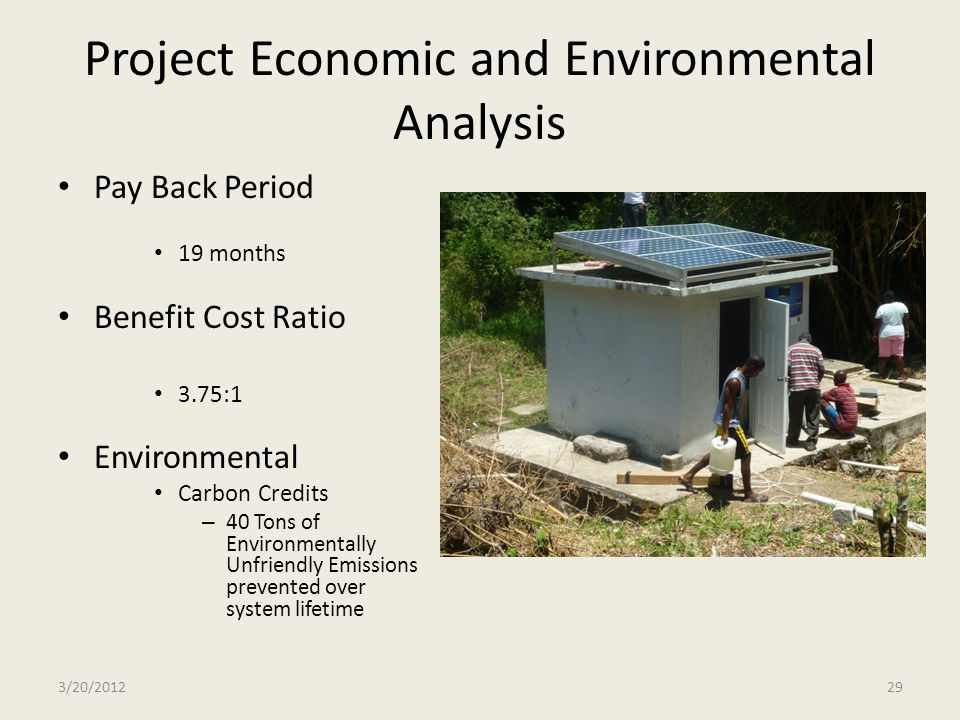 Project Economic and Environmental Analysis