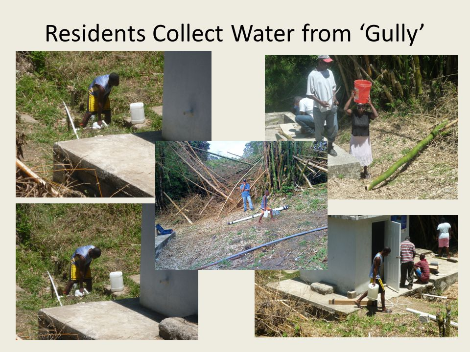 Residents Collect Water from 'Gully'