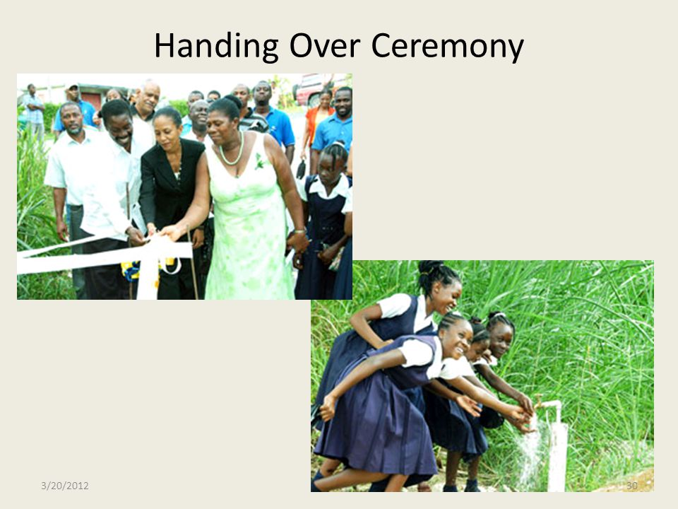Handing Over Ceremony 3/20/2012
