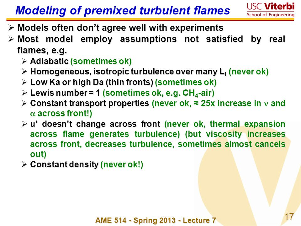 Modeling of premixed turbulent flames