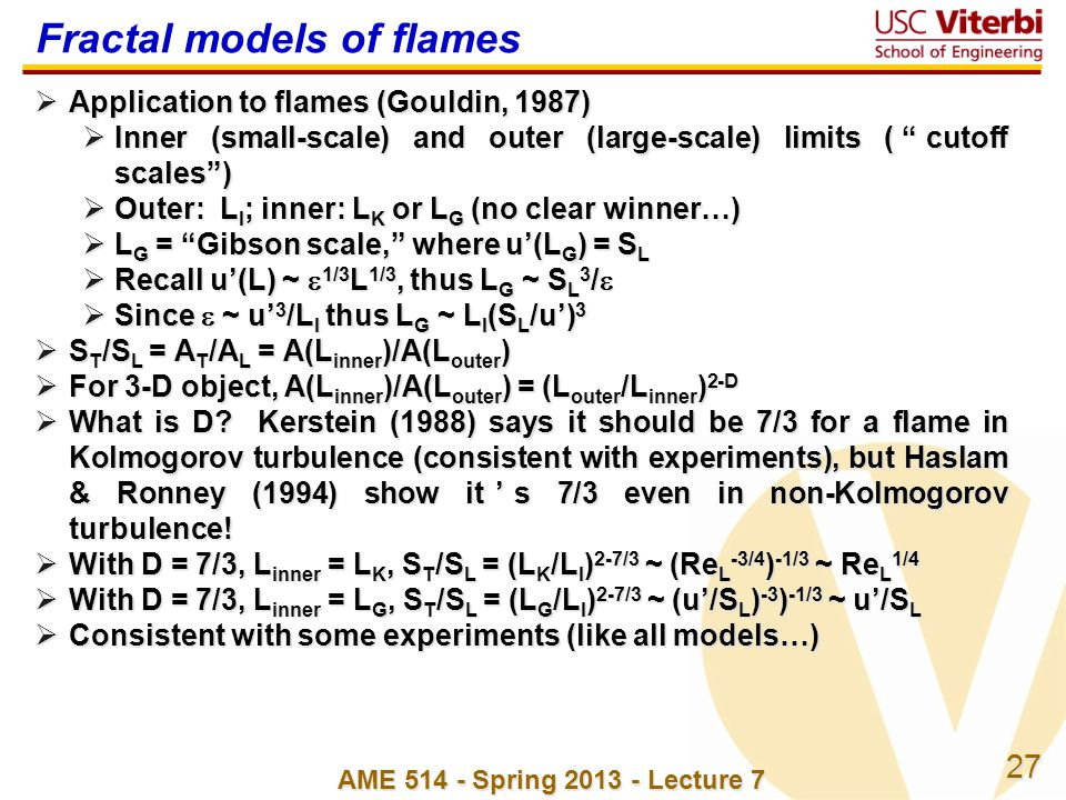 Fractal models of flames