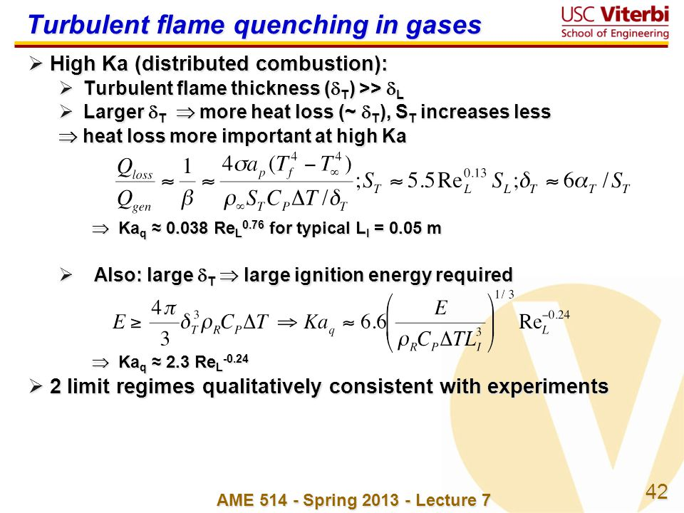 Turbulent flame quenching in gases
