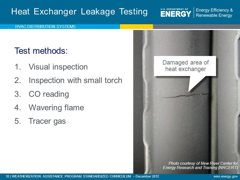 Heat Exchanger Leakage Testing
