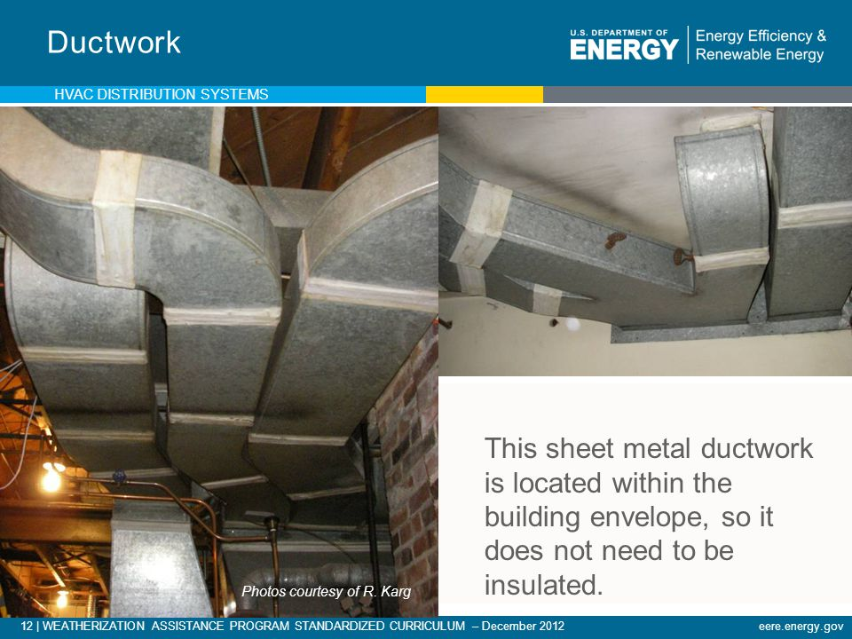 Ductwork This sheet metal ductwork