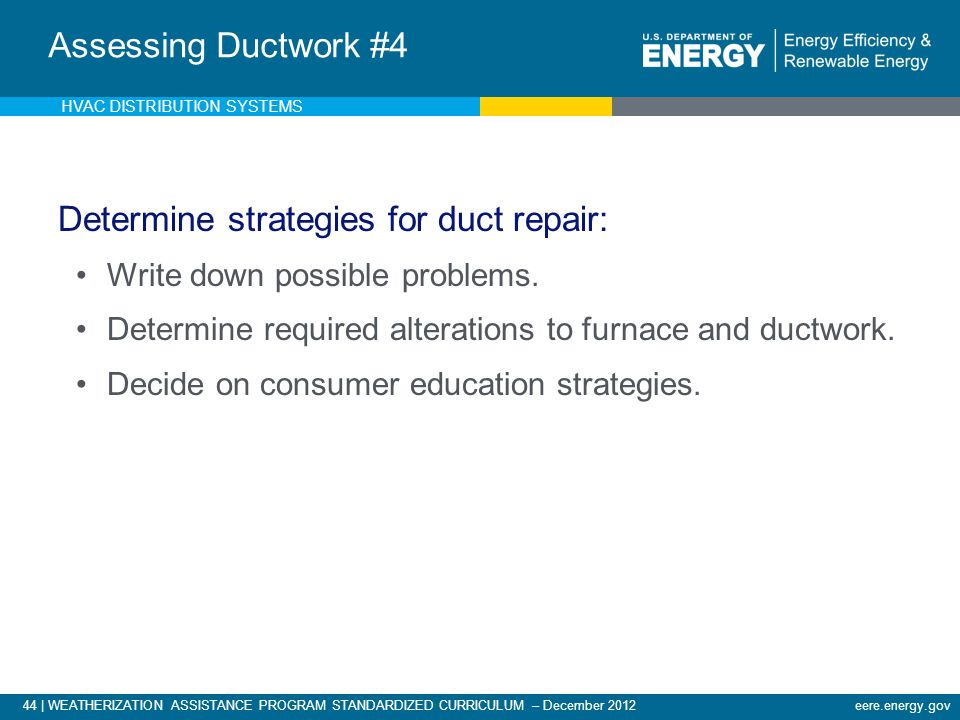 Analysis of Existing Ductwork - 5