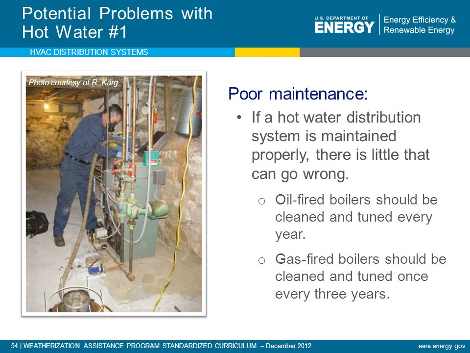Potential Problems with Hot Water #1
