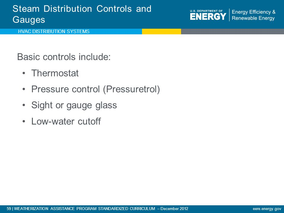 Steam Distribution Controls and Gauges