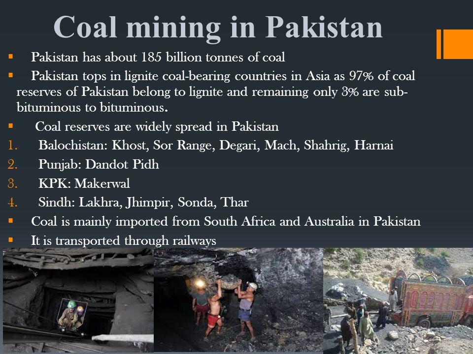 Coal mining in Pakistan