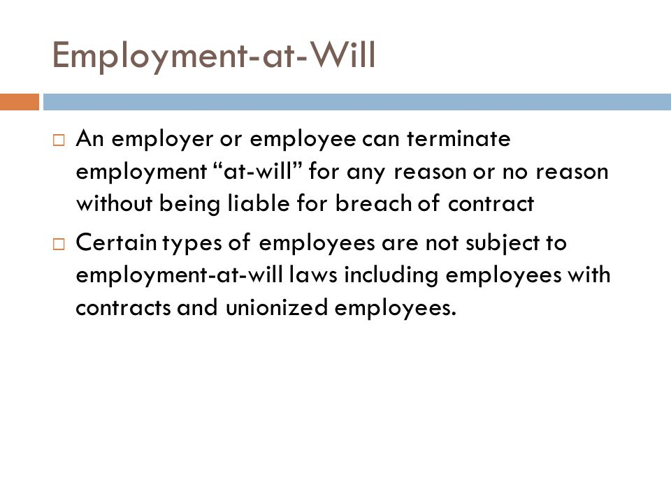 Employment-at-Will