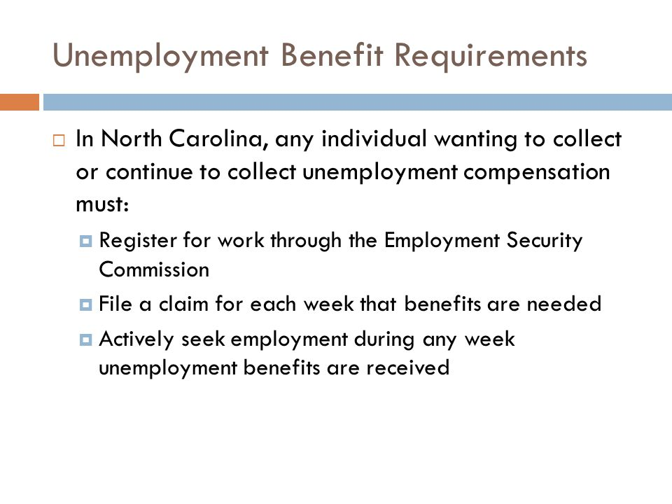 Unemployment Benefit Requirements