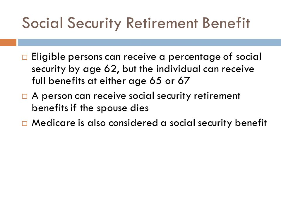 Social Security Retirement Benefit
