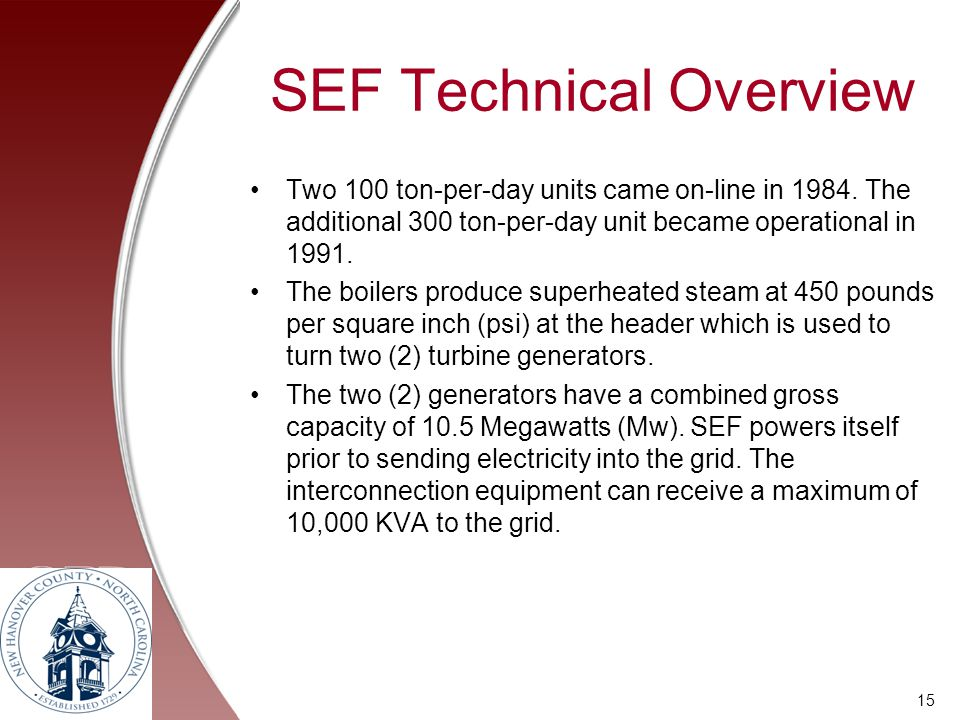 SEF Technical Overview