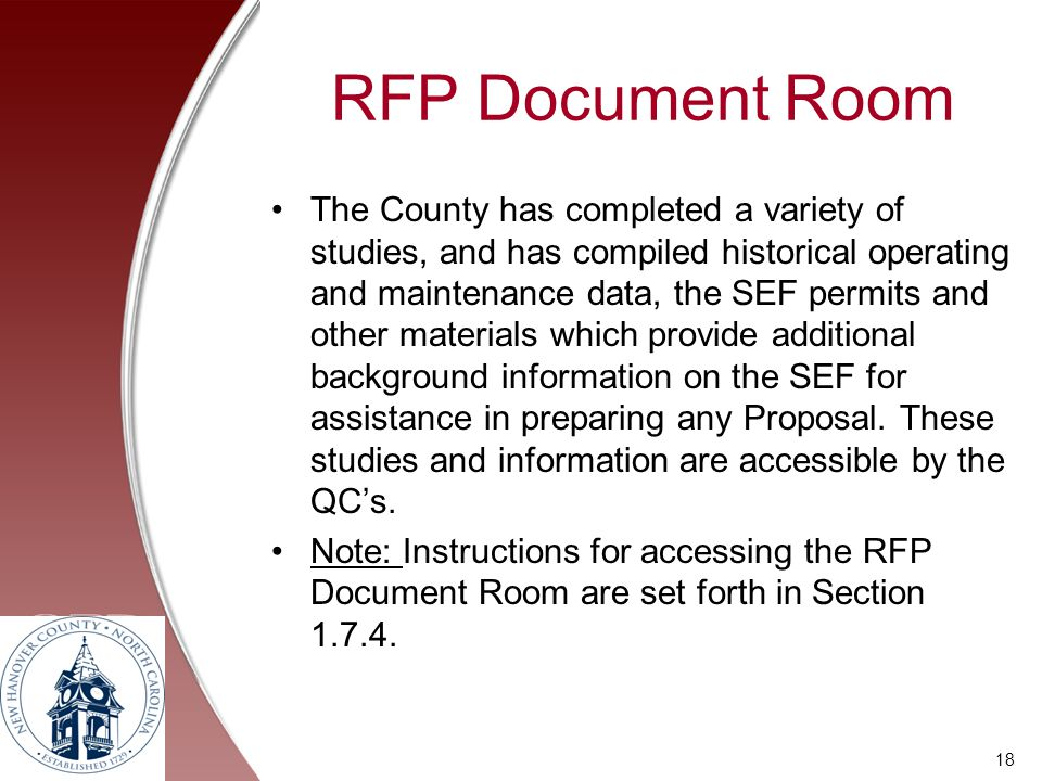 RFP Document Room