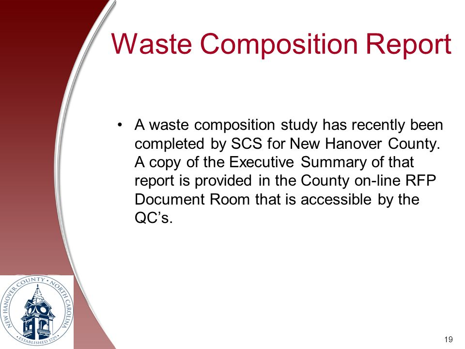 Waste Composition Report