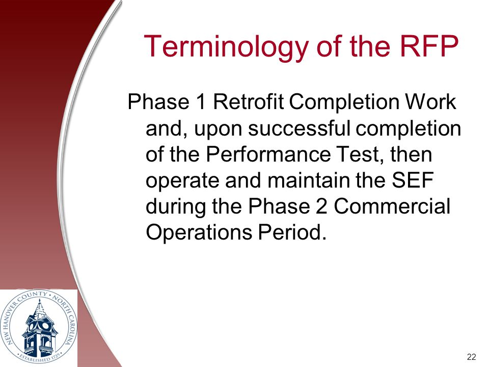 Terminology of the RFP