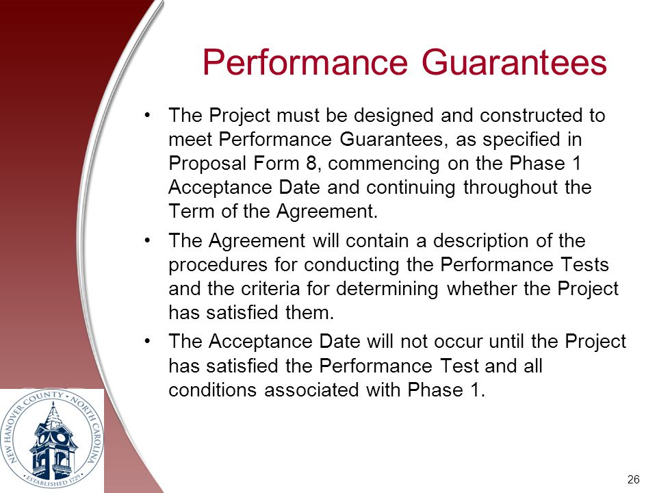 Performance Guarantees