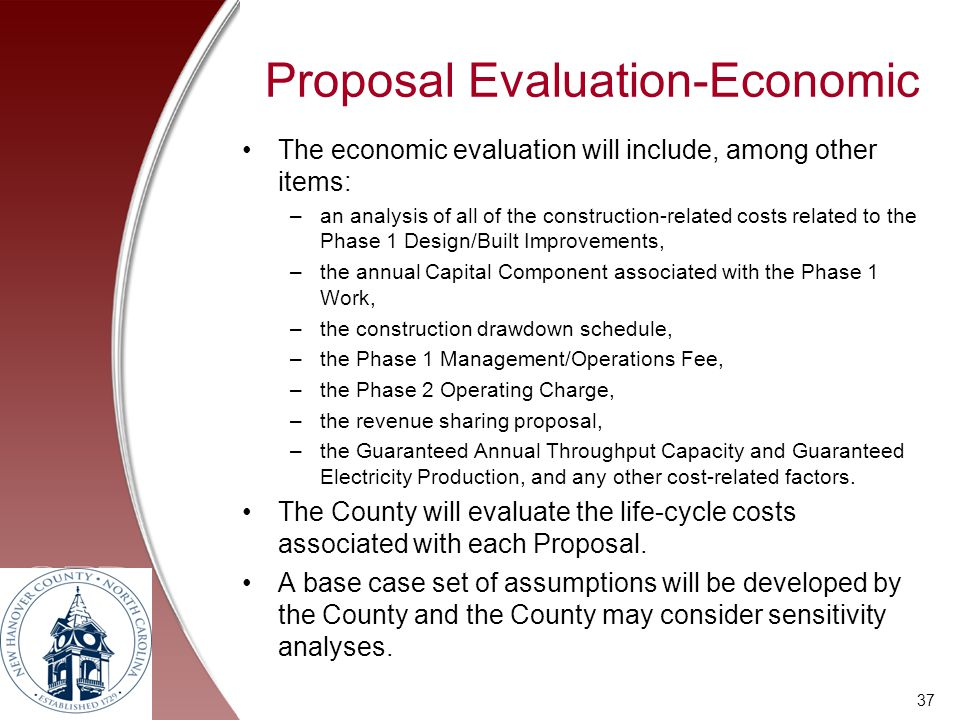 Proposal Evaluation-Economic