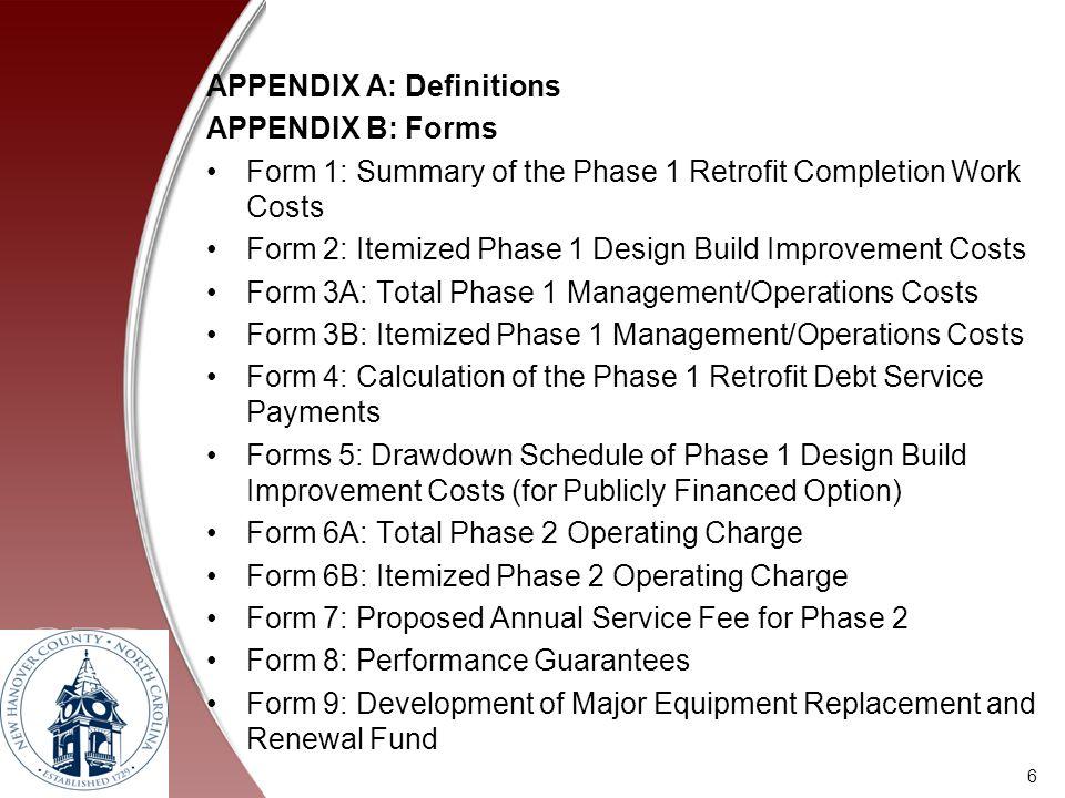 APPENDIX A: Definitions