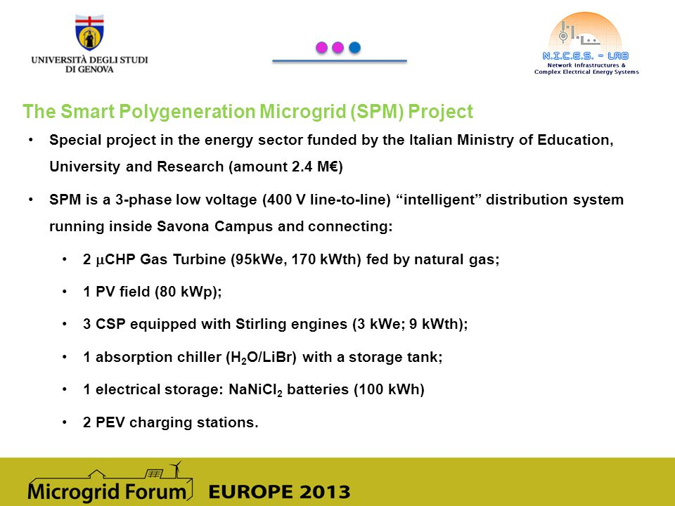 The Smart Polygeneration Microgrid (SPM) Project
