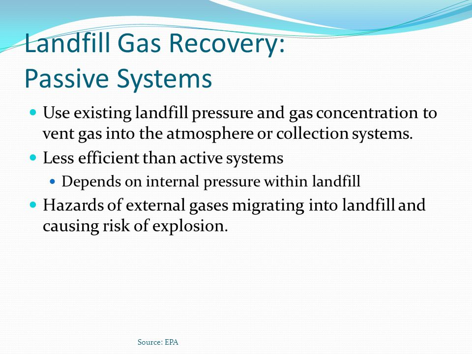 Landfill Gas Recovery: Passive Systems