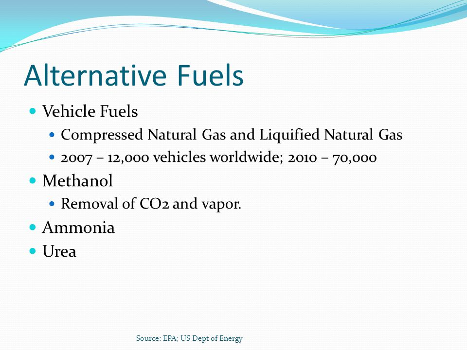 Alternative Fuels Vehicle Fuels Methanol Ammonia Urea