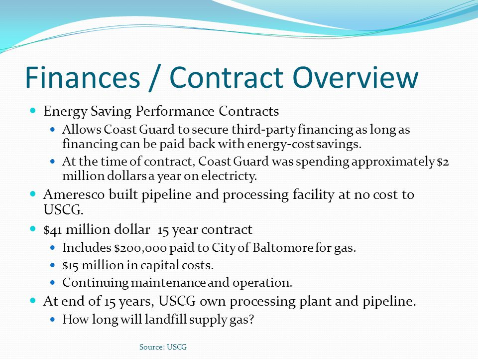 Finances / Contract Overview