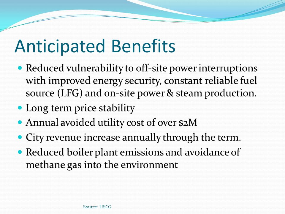 Anticipated Benefits