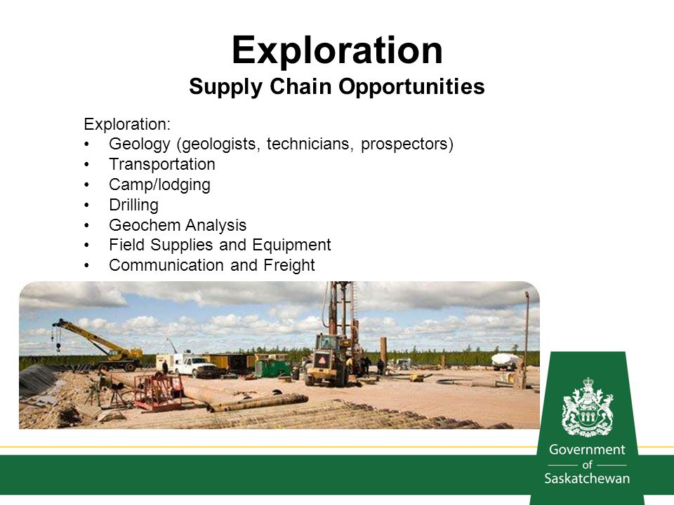 Exploration Supply Chain Opportunities