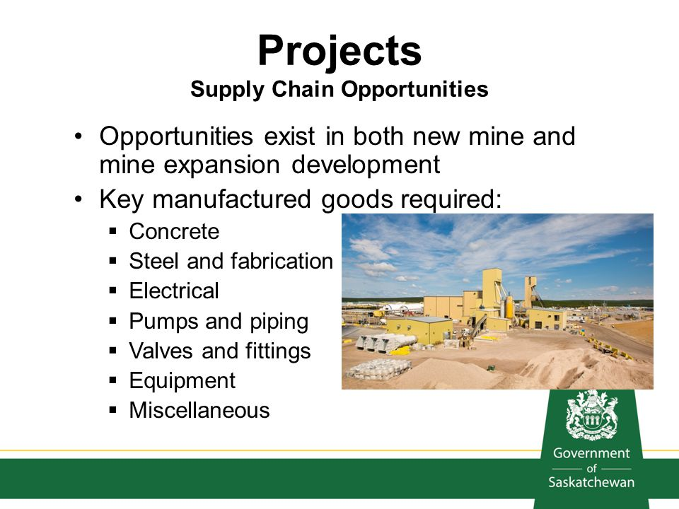 Projects Supply Chain Opportunities