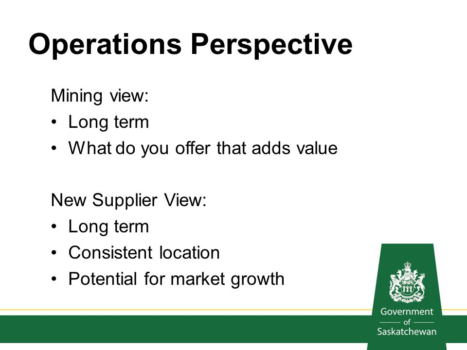 Operations Perspective