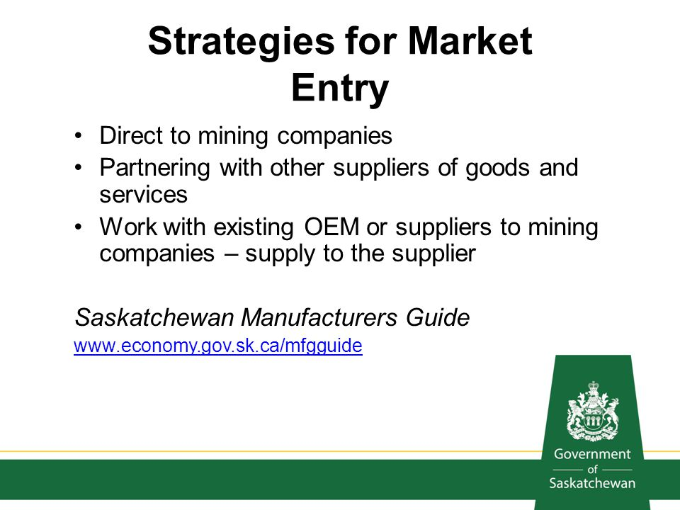 Strategies for Market Entry