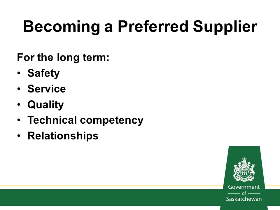 Becoming a Preferred Supplier