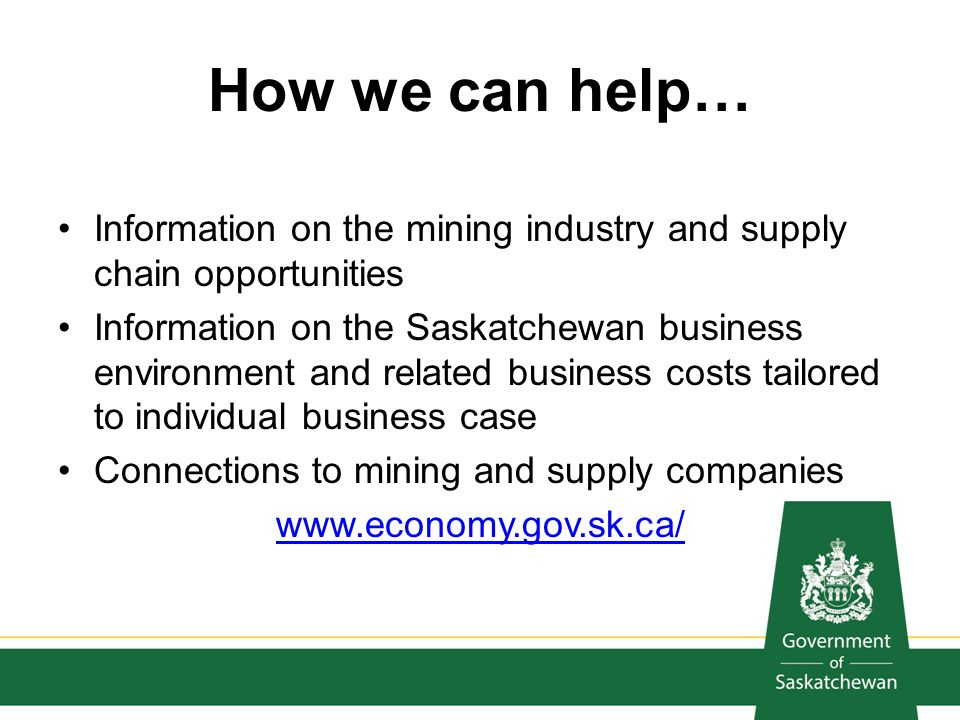 How we can help… Information on the mining industry and supply chain opportunities.
