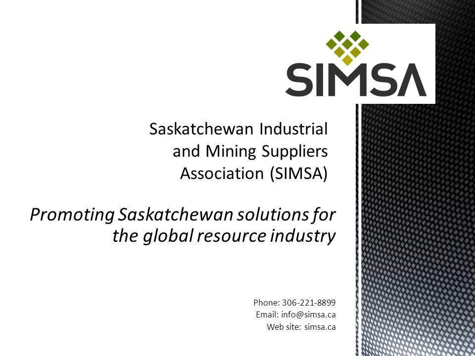 Saskatchewan Industrial and Mining Suppliers Association (SIMSA)